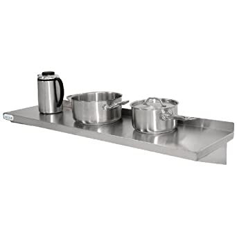 Vogue Stainless Steel Kitchen Shelf 600mm Pots Pans Containers Storage  Shelves