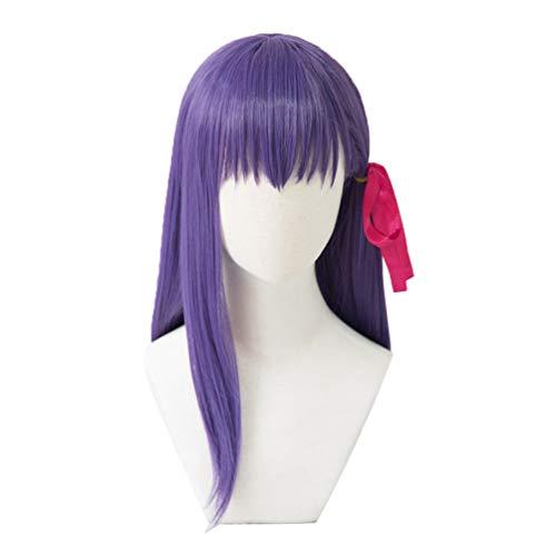 Fate/stay night 間桐 桜 まとう さくら 風 コスプレウィッグ 耐熱ウィッグ 変装用ウィッグ cosplay wig かつら イベント 仮装用 ヘアピース 専用ネット付き