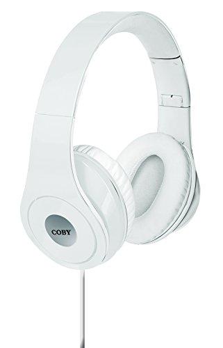 Coby White Headphone - Coby CVH-803-WHT Jammerz Folding Headphones, White