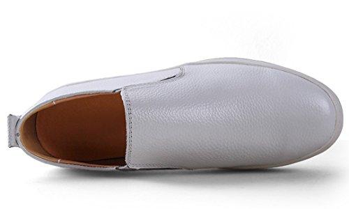 TDA ,  Herren Durchgängies Plateau Sandalen mit Keilabsatz , weiß - weiß - Größe: 43 EU