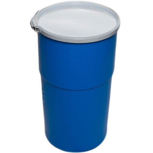 Air Sea Containers 15 Gallon Open-Head UN Rated Poly Drum with Ring Lock Lid by Air Sea Containers