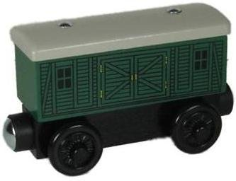 Green Baggage Car - Thomas & Friends Wooden Railway Tank Train Engine - Brand New Loose (Car Tank Wooden)