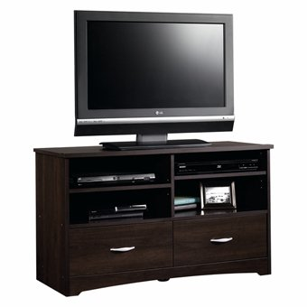 Sauder Beginnings TV Stand with Drawers, Cinnamon Cherry - Cherry Finished Tv Stand