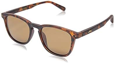 Local Supply Men's CITY Polarized Sunglasses - Dark Brown Tint Lens, Matte Tortoiseshell Frames