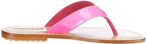 Mystique Mystique 4488 - Sandalias de cuero para mujer Rosa (Pink (Neon Pink))