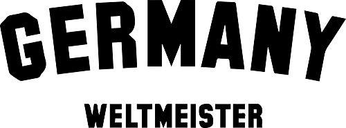 rmany Weltmeister (Black) (Set of 2) Premium Waterproof Vinyl Decal Stickers for Laptop Phone Accessory Helmet Car Window Bumper Mug Tuber Cup Door Wall Decoration ()