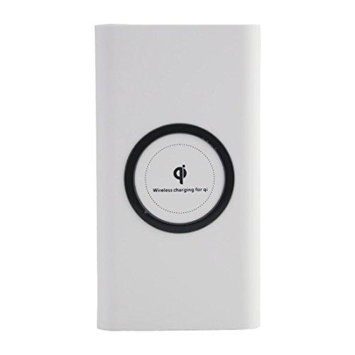 Wireless Power Bank Harbor 10000Mah Portable Power Bank Fast Wireless Power Bank 2 In 1 Charging  Wireless External Battery Charger For Standard Charge For Iphone X 8 8 Plus  White