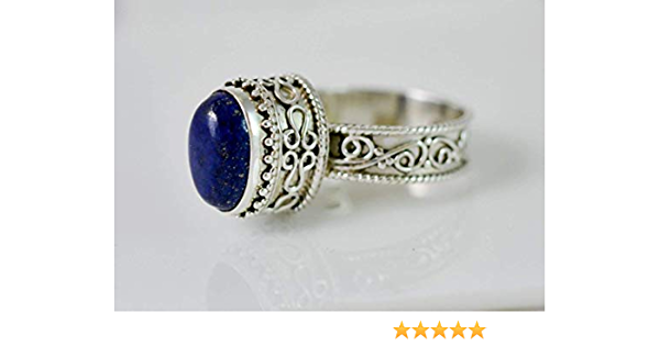 Lapis Lazuli Ring Solid 925 Sterling Silver Ring Band Ring Jewelry tk7708