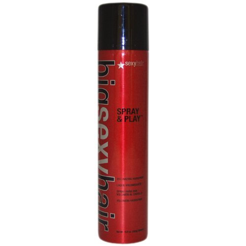 Sexy Hair Concepts Big Sexy Hair Spray & Play Volumizing Hairspray Boosting Volume & Thickness Hold Factor 7 For Weightless Volume, Shine, Texturizing and Fullness with a Flexible All Day Hold - 10oz