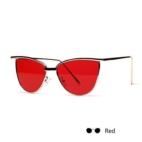 Lomo gafas Red sol de Señor gafas Gafas Negro TL de Sunglasses mujer Oval de para el ojo Rosa gato anqxfOU