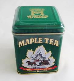Maple Tea, 24 Tea Bags in a Decorative Metal Tin. A Fantastic Holiday Gift. - Holiday Gift Tin