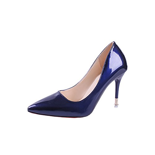 Solo High De De La La Luz Heel Punta De La High Punta De Boquilla Shoes Luz Zapata La GAOLIM De La La Rosas Zapatos El La La azul Zapatillas De Bien Funcionan Con De Mujer Boquilla La Shoes De Heel Uw4aOX