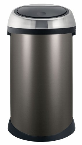 Brabantia Touch Bin 50 Liter Platinum.Brabantia Touch Bin 50 L Platinum With Matt Steel Lid