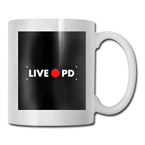 DILYLYCUP Rec Live PD Mug,Coffee Hot Beverage Cup,Stoneware Mug,Ceramic Coffee Cup,Tea Cup 11 Ounces Funny Gift Coffee Tea Mug