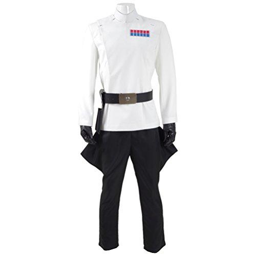Fancycosplay Mens Battle Uniform White Cloak Full Set Cosplay Costume (Man-XXL) by Fancycosplay (Image #3)
