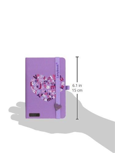 Lovestruck Lanybook Notizbuch, A6, kariert, kariert, kariert, inklusive Froschtasche, Hardcover, 192 Seiten, lila B00VMAKQ4C | Züchtungen Eingeführt Werden Eine Nach Der Anderen  | Trendy  | Angemessener Preis  668f52