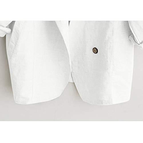 Blanc Blouson Longues Femme Uni Manteau Holywin Manches g7BOzZq