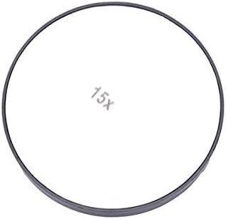 Ququack 10X / 15X拡大鏡3.5インチ美容化粧化粧顔ケアNHV白15 Xの吸引カップ