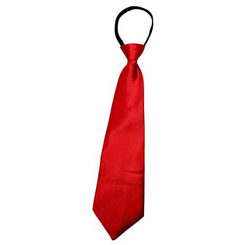 Roo Threads Boys 14 inch Zipper Necktie, Red