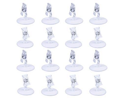 ACE SELECT Plastic Table Card Holders Set of 16 Wedding Place Card Stands Restaurant Menu Holder Clip Photo Holder Memo Holder Desk, Banquets