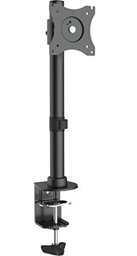 "VIVO Single Monitor Adjustable Tilt Desk Mount Stand for 1 LCD Screen up to 27"" (STAND-V001C)"