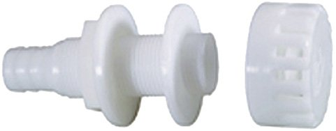- Attwood Corporation 3886-3 White Thru-Hull Connector with Strainer