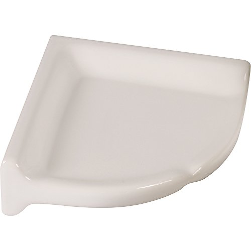 "Apple Creek Ceramic Shower Corner Shelf, 7 inch, 7"", White"