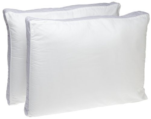 Perfect Fit Extra Firm Density Standard Size 233 Thread Count Quilted Sidewall Pillow 2 Pack  White