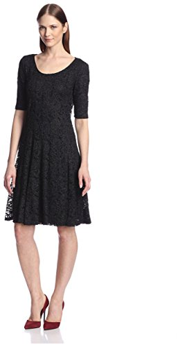 Chetta B Women's Glitter Lace Fit-and-Flare Dress