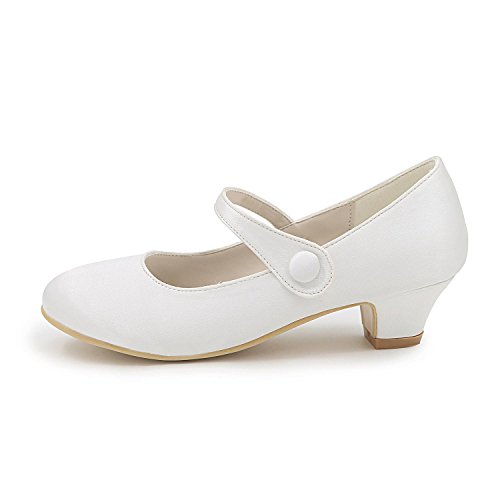 Women's Evening L Spring Tie YC Ballerina Party Dress Heel Comfort Summer Satin Wedding Ruby Ribbon Purple White Wedding amp; Shoes Flat Buckle Blue rqr4x5O