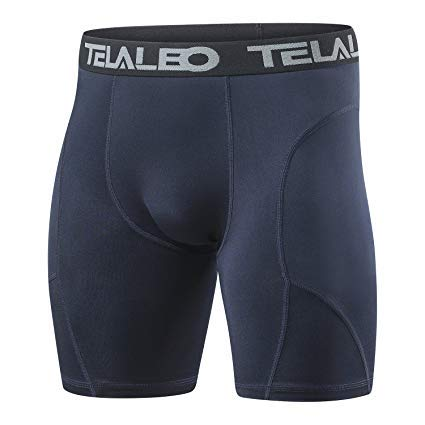 TELALEO Men/'s Long Compression Shorts Cool Dry Sports Lightweight Tights