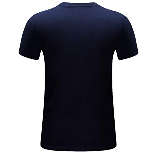 4fad5c65 Danhjin Men Summer Plus Size Casual 3D Cobra Printed Tops Tee Round Neck  Short Sleeve T Shirt Cool Blouse S-6XL Dark Blue