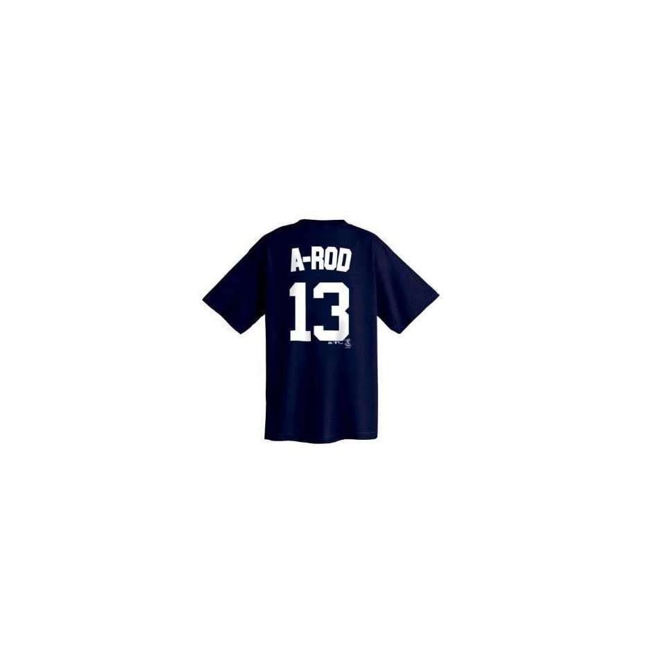 Alex Rodriguez New York Yankees Big & Tall Name and Number T Shirt (5XT)