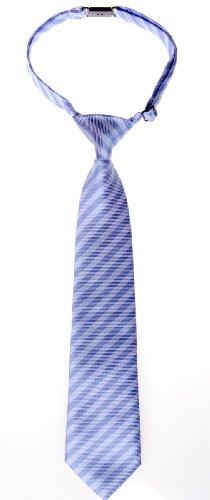 Retreez Striped Woven Pre-tied Boy's Tie - Two Tone of Purple Stripe - 4 - 7 years