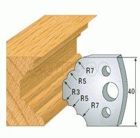 2 Universal Profilmesser 40x4mm Profil 021 SP Stahl