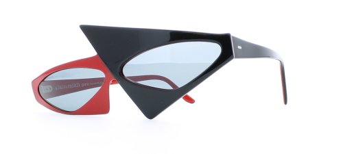 Alain Mikli 30 630 Black and Red Authentic Women Vintage - Sunglasses Mikli