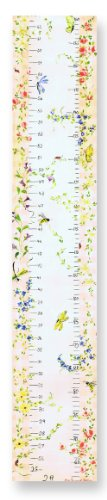 The Kids Room by Stupell Flowers And Butterflies Growth Chart, 7 x 0.5 x 39, Proudly Made in USA (Flowers Canvas Growth Chart)