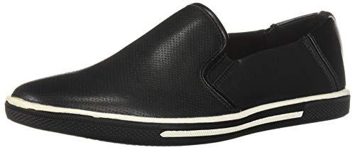 Kenneth Cole REACTION Men's Center Slip On Sneaker, Black 11 M US