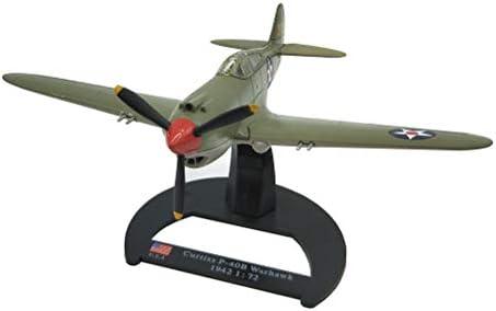 1/144スケールファイター合金モデル、軍事カーチスP-40B Warbawk 1942アダルトグッズやギフト、6.2Inch