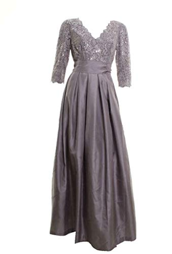 Jessica Howard Women's Three Quarter Sleeve Surplice Gown with Sash, Mauve, 6