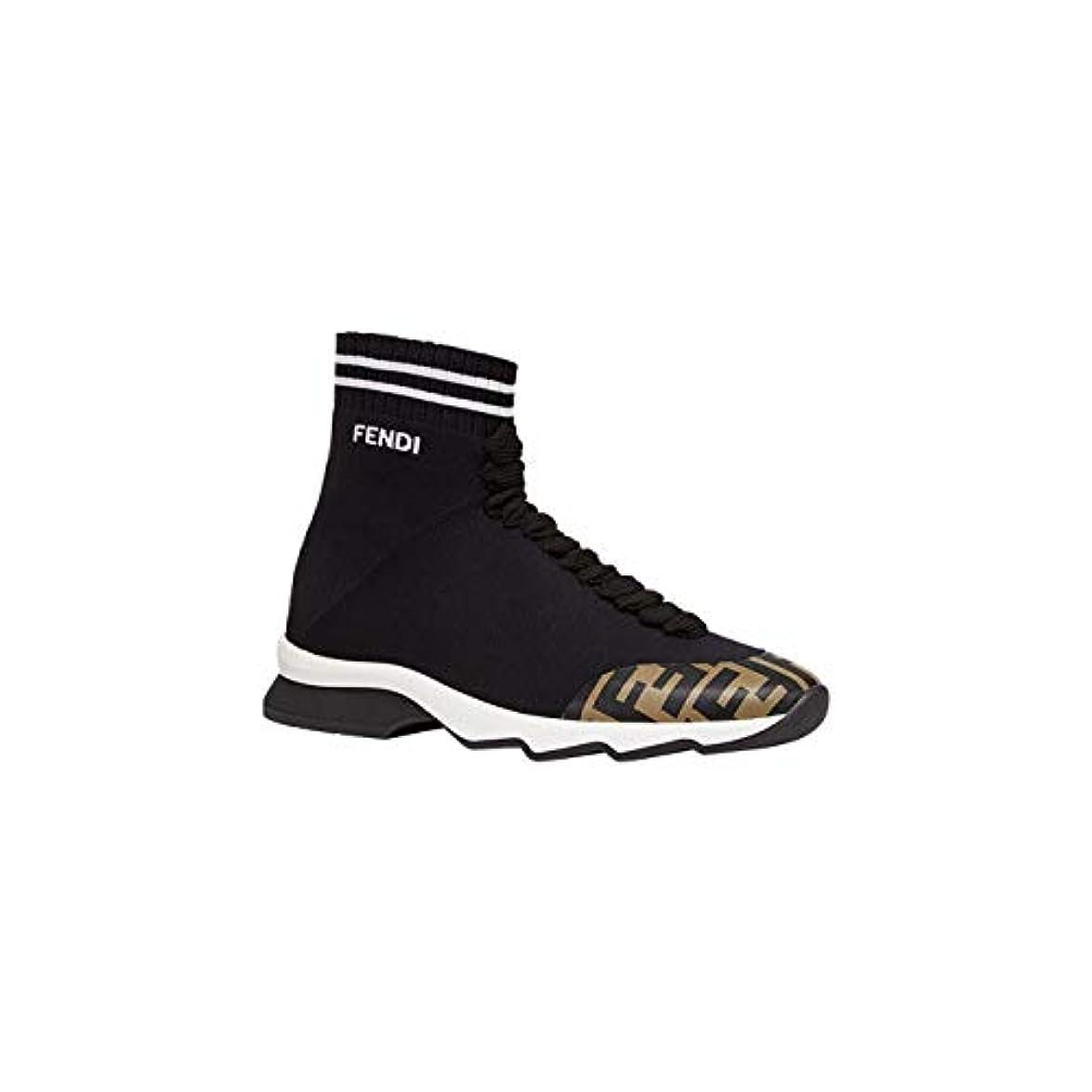 Fendi Hi Top Sneakers Donna 8t6835a622f15ej Poliuretano Nero