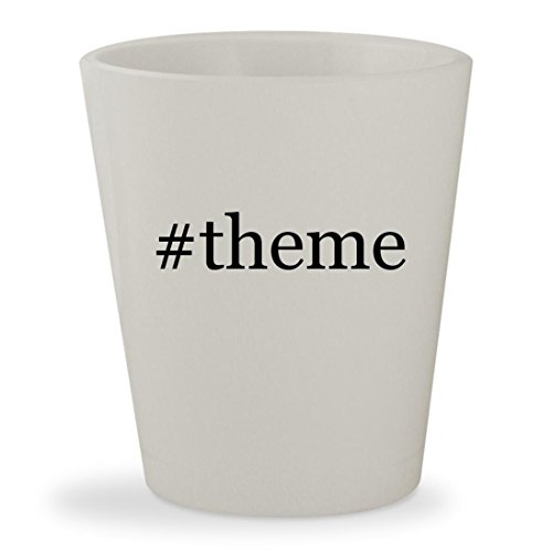 Price comparison product image #theme - White Hashtag Ceramic 1.5oz Shot Glass