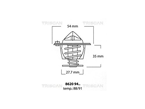 Triscan 8620 9488 Thermostat, coolant Triscan A/S