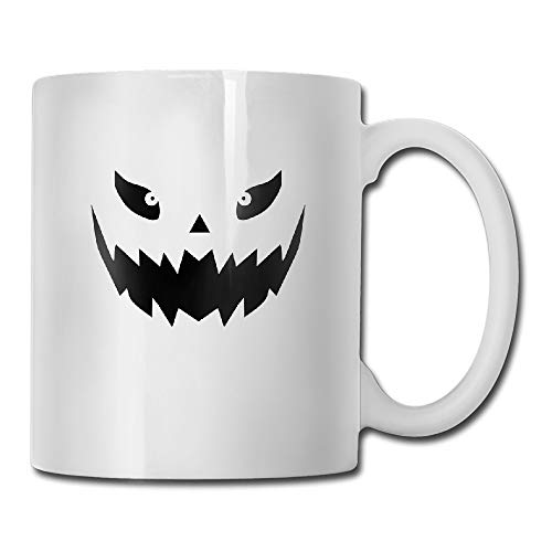 Really Scary Halloween Pumpkin Face Vector Motivational Mug]()