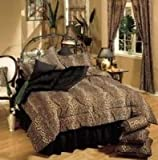 Leopard 4 Piece Bed-in-a-Bag Set Size: Queen
