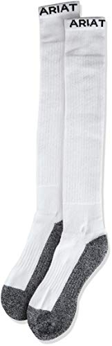 Ariat Men's Full Cushion Over The Calf 2-Pack Sock, white, ()