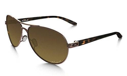 Oakley Women's Womens Feedback Sunglasses (OO4079) Rose Gold/Brown Metal - Polarized - 59mm