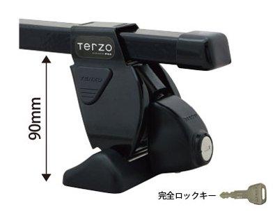 TERZO マツダ ファミリアS-ワゴン H11.8~ BJ# ダイレクトルーフレール無車 品番:EF14BL/EB1/EH221 ベースキャリア 1台分セット B072KD8SKK