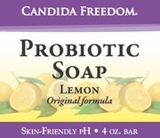 Three (3) Bars of Candida Freedom Probiotic Soap 4 oz - 3 bars