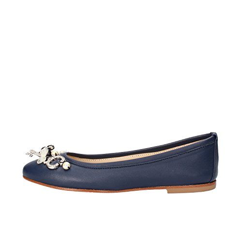 EU Blue POKEMAOKE AG885 5 Ballet 35 Woman Flats US Leather 4x0q4vY